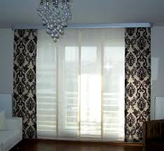 Modern patteren curtain with sheer in between Modern Curtain Decoration  Ideas