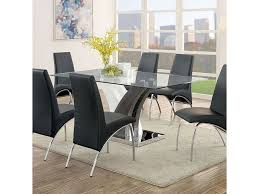 Furniture Of America Svana Contemporary Dining Table With Glass Top