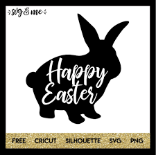 Free Easter Cricut Designs Happy Easter Bunny Silhouette Svg Me