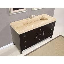 silkroad 60 inch travertine top bathroom vanity