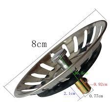 stainless steel home kitchen sink drain stopper basket strainer waste plug to