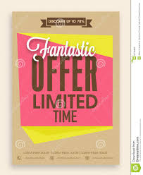 flyer discount offer stock illustration image  flyer discount offer