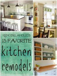 Kitchen Renovation Idea Favorite Kitchen Remodel Ideas Remodelaholic