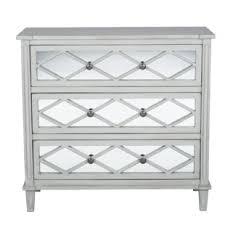 smoked mirrored furniture. Lawler Mirrored Pinewood 3 Drawer Chest Smoked Furniture