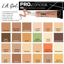 La Girl Pro Concealer Color Chart Bedowntowndaytona Com