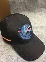 gucci cap. new gucci mens women baseball hat black canvas cap size m
