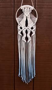 Macrame Dream Catcher Patterns Free This macrame dreamcatcher was handmade and dyed by me using 100 1