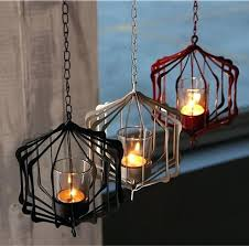 hanging candle holders new white black and red iron hanging candle holder with chain coffee hanging candle