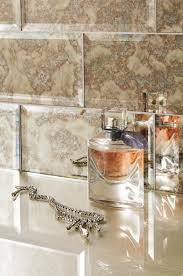 glass bevel metro subway tiles feature a striking antique mirror effect for adding a touch of glamour originalstyle com