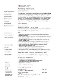 sample resume for veterinary assistant resume examples for technicians pharmacy technician resume medicine