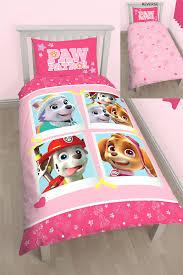 riveting girls pink paw patrol skye duvet