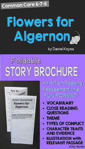 17 best ideas about flowers for algernon novels flowers for algernon foldable story brochure common core