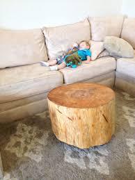 interior design tree trunk coffee table contemporary round stump cole papers design stylish regarding 15