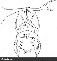 Slapen Bat Kleurplaat Pagina Stockvector Malyaka 215829708