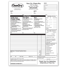 chem dry printing invoices work orders franchise print shop style 2 middot invoices work orders