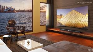 samsung curved tv in living room. xiaomi has announced its first curved television, the android-powered mi tv 3s, which features a 4k 65-inch samsung display for superior optics and tv in living room
