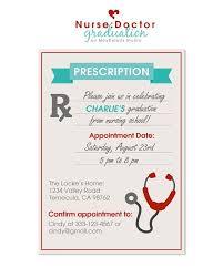 Nursing Graduation Party Invitations Digital File Nurse Graduation Party Invitation Doctor
