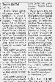 Obituary for Evelyn Griffith Jackson (Aged 81) - Newspapers.com