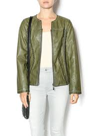 luii olive jacket front cropped image