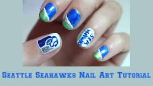 Tutorial Seattle Seahawks Nail Art YouTube. Polish Procrastination ...
