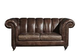 solid wood legs two seater brown leather settee chesterfield sofa bed with universal wheels