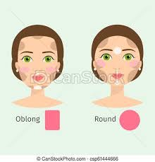 set of diffe woman face types vector ilration character shapes makeup beautiful female csp61444666
