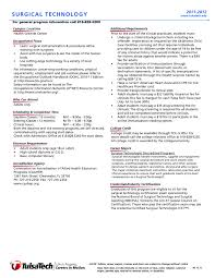 Medical Technologist Resume Sample Surgical Tech Student Resume Samples RESUME 92