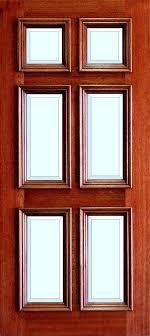mahogany true divided lite 6 panel glass door entry doors