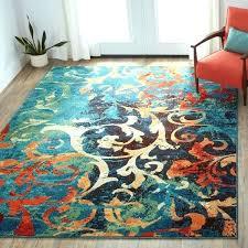 teal and orange area rug s burnt orange area rug