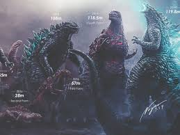 Godzilla Size Chart Shows How Much The King Of Monsters