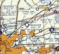 Dallas Fort Worth Sectional Chart Abandoned Little Known Airfields Texas Northern Fort