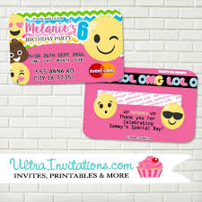 Credit Card Party Invitations Order Now Emoji Credit Card Birthday Party Design Unique Tween