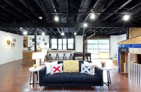 lighting for basement ceiling. Exposed Ceiling Lighting Basement Industrial With Black Commercial For S