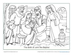 John the baptist was a fiery preacher who preached a convicting message of repentance. The Birth Of John The Baptist Coloring Page Children S Bible Activities Sunday School Activities For Kids