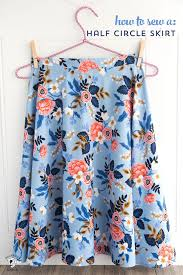 how to sew a half circle skirt with a zipper a free sewing tutorial teaching