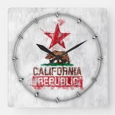california republic flag bear in paint