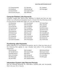 Resume Keywords 5000 Free Professional Resume Samples And
