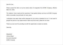 Editable Two Weeks Notice Letter Template to any