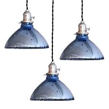 blue mercury glass pendant lights shade kitchen
