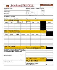 Expenses Report Sample Free 11 Sample Expense Report Forms In Pdf Excel
