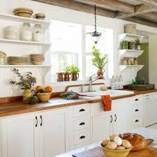 exposed beams on a farmhouse kitchen works quite good with white cabinetry and shelves farm decorating ideas d95 farm