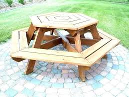 make a picnic table round picnic table with benches picnic table plans detached benches wooden picnic