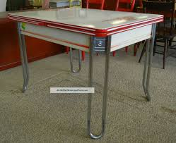 Enamel Top Cabinet Vtg Enamel Top Kitchen Table Swing Out Stool Seat Chic Porcelain