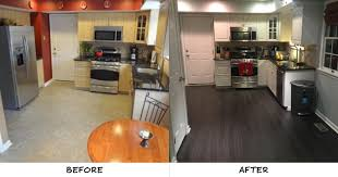 juan s kitchen got an elegant update when he added our beach cottage oak engineered vinyl plank evp flooring the easy to install floor which looks like