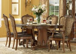 a r t old world 7 pc double pedestal dining set in cherry