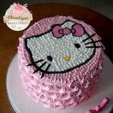 Hello Kitty Buttercream Cake For Nana Chocolique