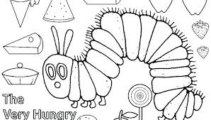 The Very Hungry Caterpillar Coloring Pages Printable Coloring Image