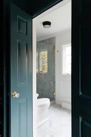 peacock blue bi fold closet doors with glass door knobs