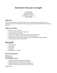 Resume Skills Sample Classy Resume Skills Examples For Servers With Resume Example For Server