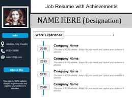 Job Resume With Achievements Ppt Powerpoint Presentation Show Tips